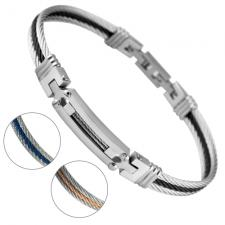 Stainless Steel Adjustable Cable Bracelet