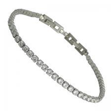 Women's Stainless Steel CZ Bracelet