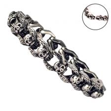 Stainless Steel Skull Links Bracelet