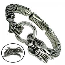 Stainless Steel Biker Dragon Bracelet