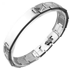 Stainless Steel ID Bracelet with Uniquely Designed Straps