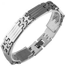 Stainless Steel Link Bracelet (8.5 IN)