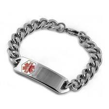 Engravable ID Bracelet in Stainless Steel