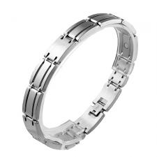Stainless Steel Link Magnetic Bracelet (8.5 IN)