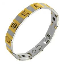 Wholesale Two Tone Magneto therapy bracelet.
