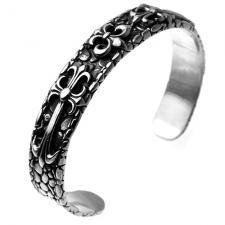 Fleur De liz Bangle Bracelet