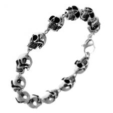 Skull Bracelet in Stainless Steel