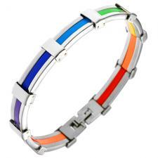 Rainbow Pride Stainless Steel Bracelet