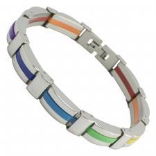 Stainless Steel Unisex Rainbow Bracelet
