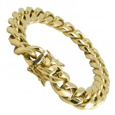 Gold PVD Stainless Steel Miami Cuban Link Bracelet