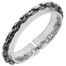 Stainless Steel Bracelet with Interlocking Links