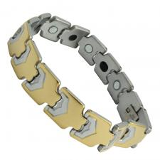 Thick Two Tone Stainless Steel Bracelet