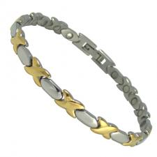 Women's Stainless Steel Two Tone Designer Magnetic Bracelet