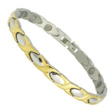Women's Stainless Steel Two Tone Magnetic Bracelet