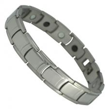 Men's Stainless Steel Plain Solid Magnetic Bracelet