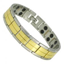 Men's Stainless Steel Two Tone Magnetic Bracelet