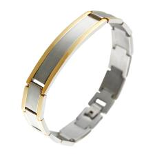 Two Toned Stainless Steel ID Bracelet