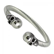 Men's Stainless Steel Skull Head Bracelet