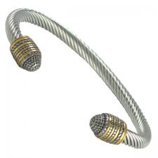 Stainless Steel Cable Wire Ball Design Bracelet