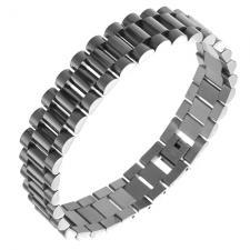 Wholesale Expensive Watch Like Bracelet in Solid Steel