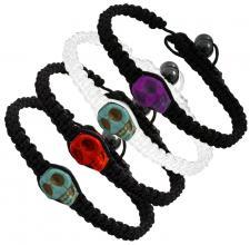 Tibetan Macrame Bracelet with Blue Skull Bead