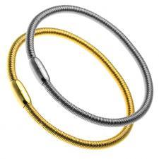 Spring Bracelet in Stainless Steel