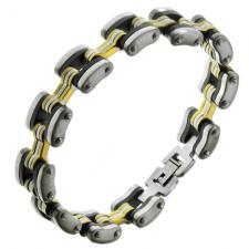 Wholesale Three tone Bracelet in Stainless Steel