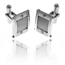 Stainless Steel Cufflinks with Screws