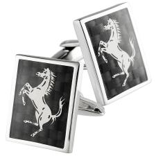 Stainless Steel Cuff Links with Horse Design