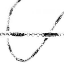Stainless Steel Chain with Fleur de Lis
