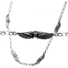 Stainless Steel Chain with Skull & Wings