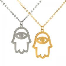 Stainless Steel Hamsa Necklace