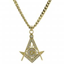 Men's Stainless Steel Gold PVD Mason Necklace
