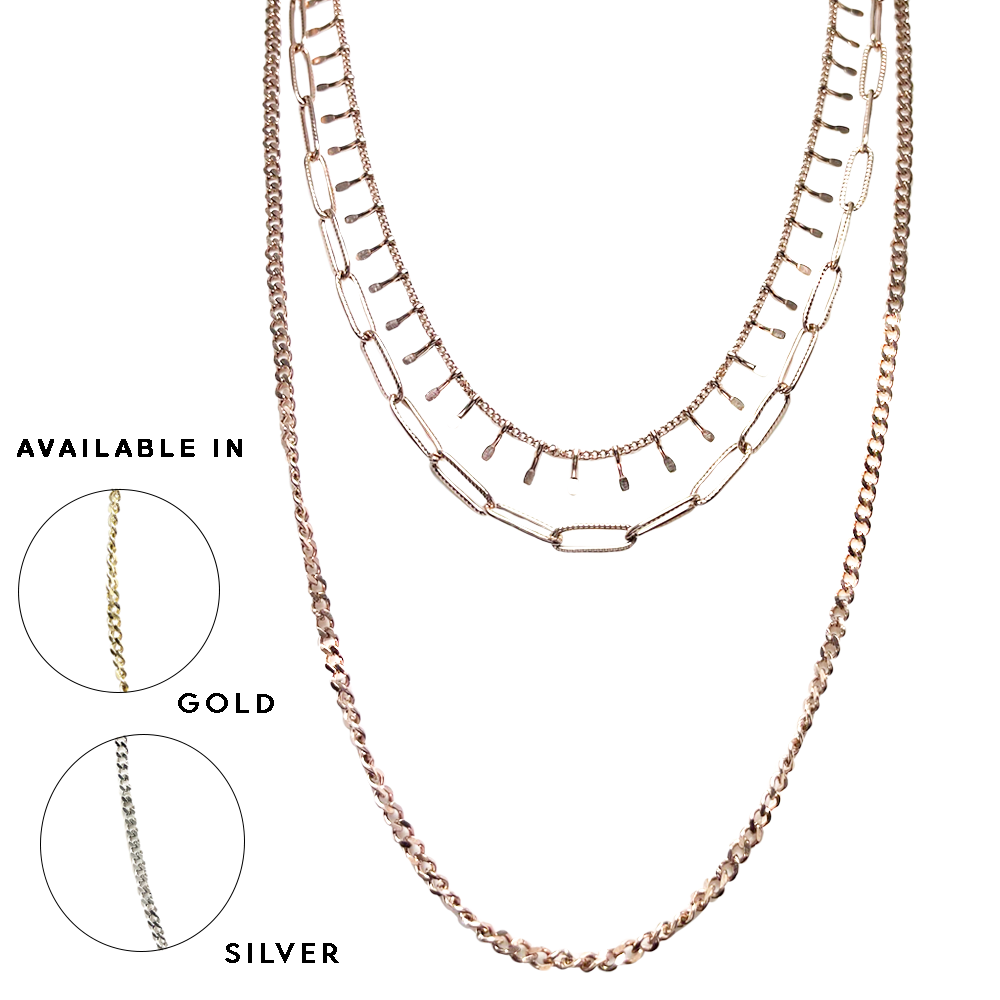 Stainless Steel  Multi Layer Necklace