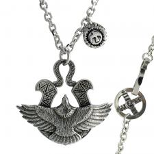 Stainless Steel Eagle Pendant with Rolo Chain