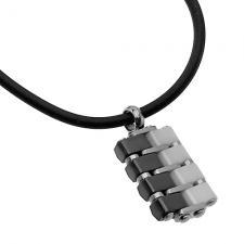 Ceramic Pendant with Silicone Cord