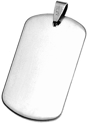 Stainless Steel Engravable Dog Tag Pendant