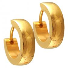 Gold Color Stainless Steel Huggie Earrings