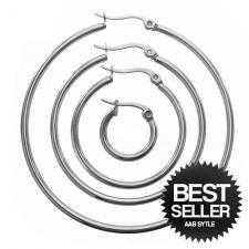 Solid Plain Hoop Earrings in Stainless Steel