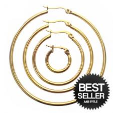 Gold PVD Hoop Earrings in Stainless Steel