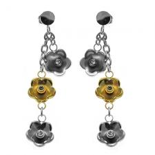 Jeweled Flower Earrings
