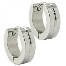 Stainless Steel Huggie Earrings