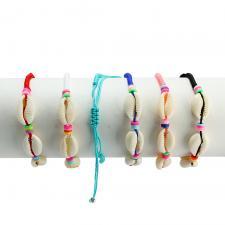 Shell Mix Color Nylon Bracelets 12PCS