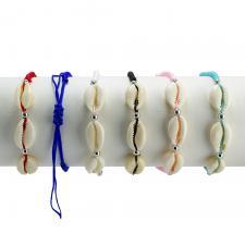 Shell Mix Fashion Nylon Bracelet 12PCS