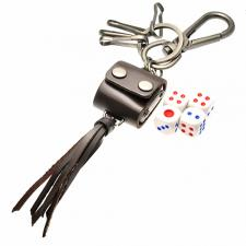 Dice Carrying Leather Key Chain