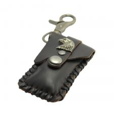 Key Chain with Eagle wrapping Leather Cover