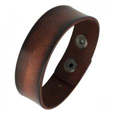 Rustic Brown Leather Bracelet