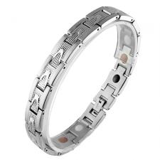 Stainless Steel Link Magnetic Bracelet (8.5 IN)