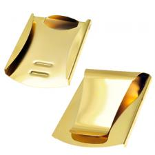 Gold Coated Double Sided Card Holder / Money Clip with Side Guard Reinforcements