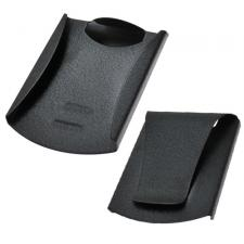 Black Double Sided Card Holder / Money Clip with Side Guard Reinforcements